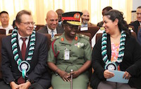 Gen Amusu (center) with C.G and DCM